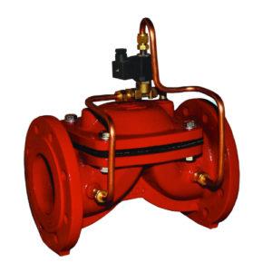 Принцип действия соленоидного общепромышленного клапана с пилотным управлением